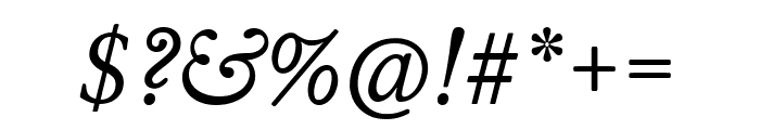 WilliamsCaslonText Italic Font OTHER CHARS