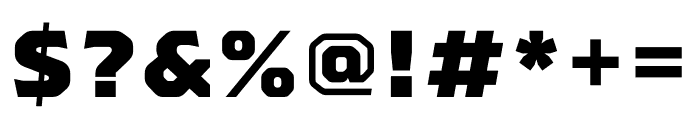 Worker 3D Outline Font OTHER CHARS