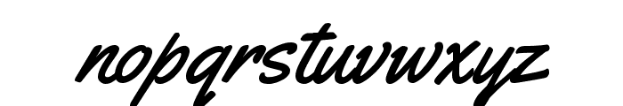 Yellowtail Regular Font LOWERCASE