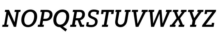 Yorkten Slab Cond Demi Ital Font UPPERCASE