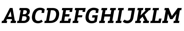 Yorkten Slab Cond ExBold Ital Font UPPERCASE
