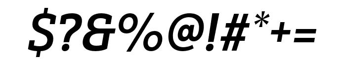 Yorkten Slab Ext Bold Ital Font OTHER CHARS