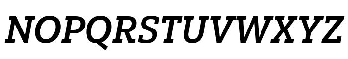 Yorkten Slab Ext Bold Ital Font UPPERCASE