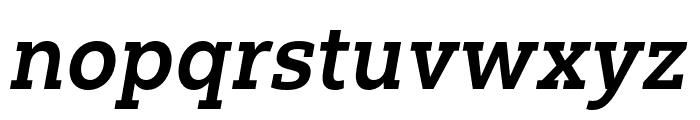 Yorkten Slab Ext Bold Ital Font LOWERCASE