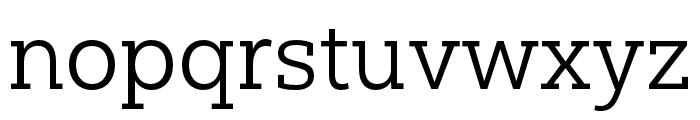 Yorkten Slab Ext Book Font LOWERCASE
