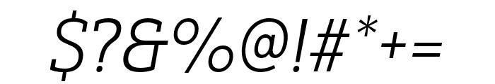 Yorkten Slab Ext Light Ital Font OTHER CHARS