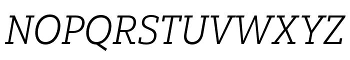 Yorkten Slab Ext Light Ital Font UPPERCASE