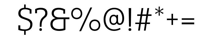 Yorkten Slab Ext Light Font OTHER CHARS