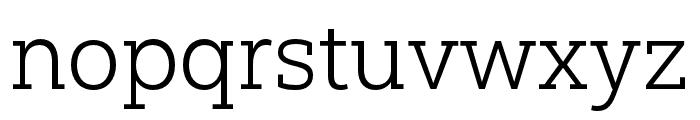 Yorkten Slab Ext Light Font LOWERCASE