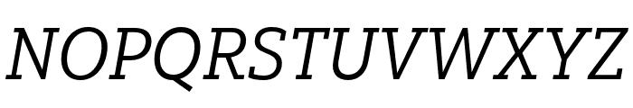 Yorkten Slab Ext Regular Ital Font UPPERCASE