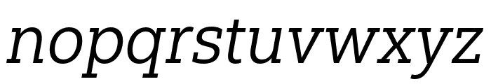 Yorkten Slab Ext Regular Ital Font LOWERCASE
