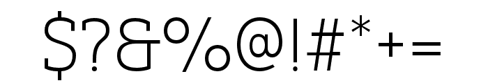 Yorkten Slab Ext Thin Font OTHER CHARS