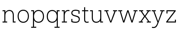 Yorkten Slab Ext Thin Font LOWERCASE