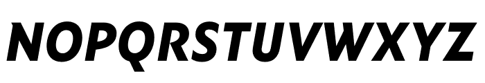 Ysans Std ExtraBold Italic Font UPPERCASE