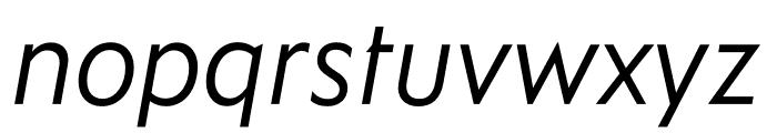 Ysans Std Italic Font LOWERCASE