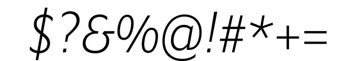 Ysans Std Light Italic Font OTHER CHARS