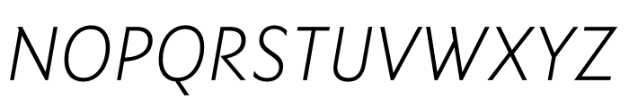 Ysans Std Light Italic Font UPPERCASE