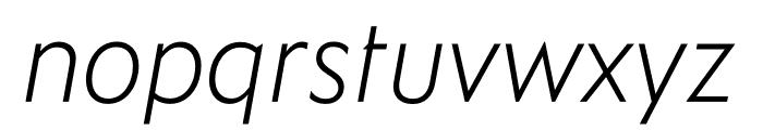 Ysans Std Light Italic Font LOWERCASE