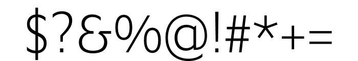 Ysans Std Light Font OTHER CHARS