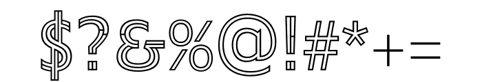 Ysans Std Mondrian Regular Font OTHER CHARS