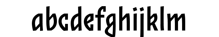 Zalamander Regular Font LOWERCASE