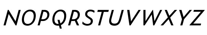 Zeitung Micro Pro Regular Italic Font UPPERCASE