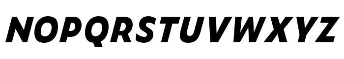 Zeitung Mono Pro Extrabold Italic Font UPPERCASE