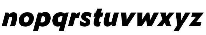 Zeitung Mono Pro Extrabold Italic Font LOWERCASE