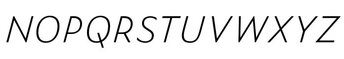 Zeitung Mono Pro Extralight Italic Font UPPERCASE