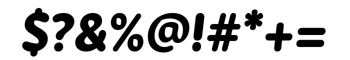 Zen New ExtraBold Italic Font OTHER CHARS
