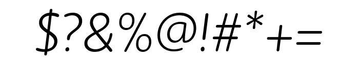 Zen New Light Italic Font OTHER CHARS