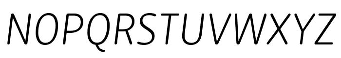 Zen New Light Italic Font UPPERCASE
