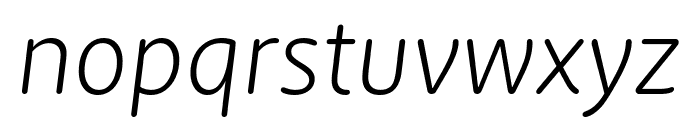 Zen New Light Italic Font LOWERCASE