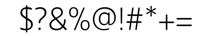 Zen New Light Font OTHER CHARS