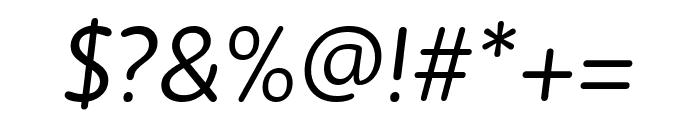 Zen New Regular Italic Font OTHER CHARS
