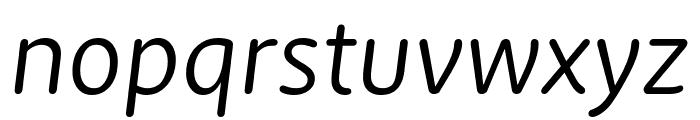 Zen New Regular Italic Font LOWERCASE