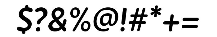 Zen New SemiBold Italic Font OTHER CHARS