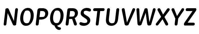 Zen New SemiBold Italic Font UPPERCASE