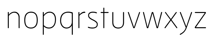 Zen New Thin Font LOWERCASE