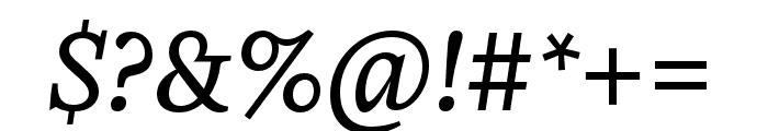 Zenon Regular Italic Font OTHER CHARS