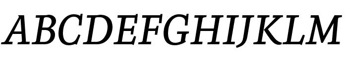 Zenon Regular Italic Font UPPERCASE