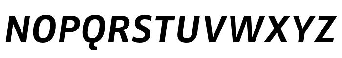 Zwo Pro Bold Italic Font UPPERCASE