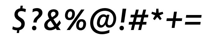 Zwo Pro Semibold Italic Font OTHER CHARS