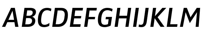 Zwo Pro Semibold Italic Font UPPERCASE