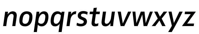 Zwo Pro Semibold Italic Font LOWERCASE