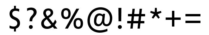 Zwo Pro Semilight Italic Font OTHER CHARS