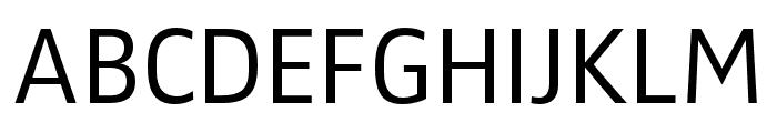 Zwo Pro Semilight Font UPPERCASE