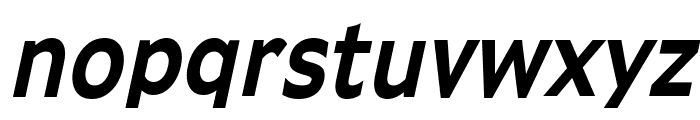Adams Condensed Bold Italic Font LOWERCASE