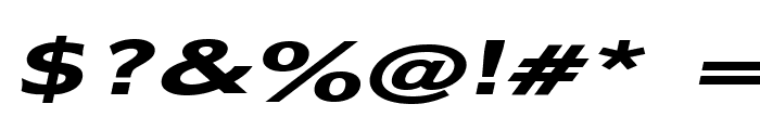 Adams Extended Bold Italic Font OTHER CHARS