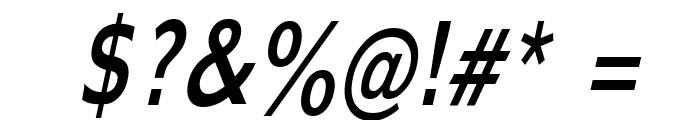 Adams Thin Italic Font OTHER CHARS